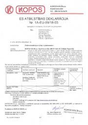 Atbilstības deklarācija