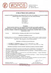 Atbilstības deklarācija DIN