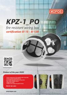 Fire resistant wiring box KPZ-1_PO