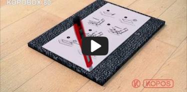 Embedded thumbnail for Montāžas instrukcija grīdas instalācijas kārbām betona un dubultās grīdās KOPOBOX 12 moduļiem
