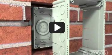 Embedded thumbnail for Uzstādīšanas instrukcija universālai kārbai KUZ-V ar vāku