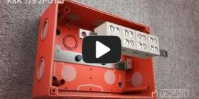 Embedded thumbnail for Montāžas instrukcija kārbai kas saglabā funkcionalitāti ugunsgrēka gadījumā KSK 175 PO