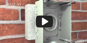 Embedded thumbnail for Uzstādīšanas instrukcija universālai kārbai KUZ-VI uzstādīšanai termoizolācijā ar vāku